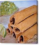 Taquitos With Salsa Canvas Print