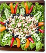 Tasty Chicken Salad Canvas Print