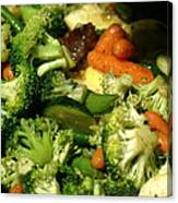 Tasty Veggie Stir Fry Canvas Print