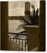 Taupe Terrace Canvas Print