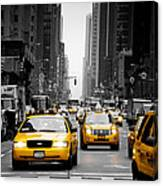 Taxis On 6th Avenue Canvas Print