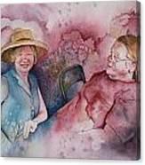 Taylor And Chuck At The Picnic Canvas Print