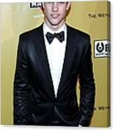 Taylor Lautner At The After-party Canvas Print