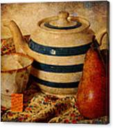 Tea And Pear Canvas Print
