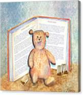Tea Bag Teddy Canvas Print