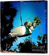 Tea Strainer Duck Canvas Print