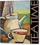 Tea Time Poster Canvas Print