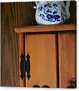 Teapot On Cabinet Canvas Print