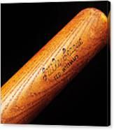 Ted Williams Little League Baseball Bat Canvas Print