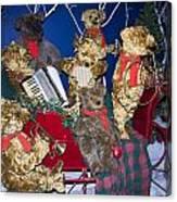 Teddy Bear Band Christmas Canvas Print