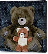 Teddy Elder Care Bear Canvas Print