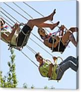 Teenagers On Fairground Ride Canvas Print