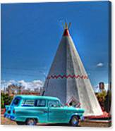 Teepee On Route 66 Canvas Print