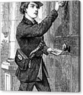 Telegraph Messenger, 1869 Canvas Print