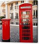 Telephone And Post Box Canvas Print