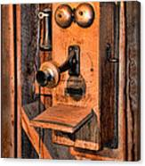 Telephone - Antique Hand Cranked Phone Canvas Print