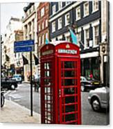 Telephone Box In London Canvas Print
