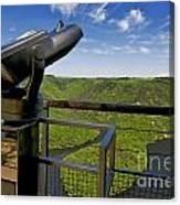 Telescope With View On Meander Of Queuille. Auvergne. France. Europe Canvas Print