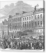 Temperance Rally, 1853 Canvas Print