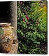 Temple And Garden Urn, The Wild Garden Canvas Print