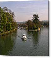Temple Lock On The River Thames Canvas Print