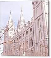 Temple Mormon In Temple Square Canvas Print