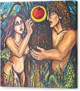 Temptation Of Adam And Eve  Canvas Print