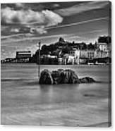 Tenby Harbour 1 Mono Canvas Print