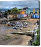 Tenby Harbour In Summer Canvas Print