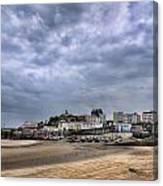 Tenby Harbour Low Tide Canvas Print