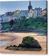 Tenby Over North Beach Painted Canvas Print