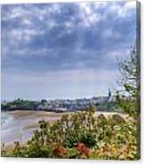 Tenby Pembrokeshire Painted Canvas Print