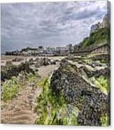 Tenby Rocks 2 Canvas Print