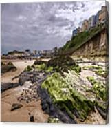 Tenby Rocks Painted Canvas Print