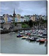 Tenby Town Across The Harbour Canvas Print