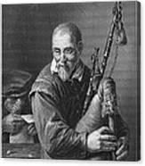 Teniers: The Bagpiper Canvas Print