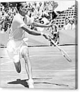 Tennis Champion Jack Kramer, Playing Canvas Print