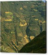 Terraced Fields Above Canyon Draining Canvas Print