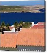Terracotta Roof Views Canvas Print