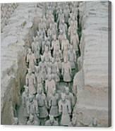 Terracotta Warriors In Xian In China Canvas Print
