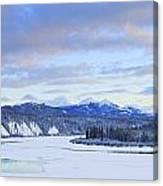 Teslin River At Sunset, Teslin, Yukon Canvas Print