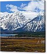 Teton 2012 Panorama Le Canvas Print