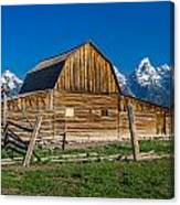 Teton Barn Canvas Print