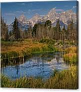 Teton Fall Canvas Print