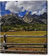 Teton Farm Canvas Print