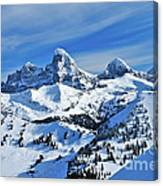 Teton Winter Canvas Print