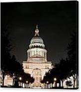 Texas Capitol Building At Night - Horz Canvas Print