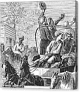 Texas Cattle Trail, 1874 Canvas Print