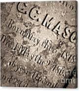 Tcm - C.c. Mason Grave Canvas Print