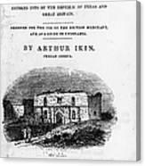 Texas: Guidebook, 1841 Canvas Print